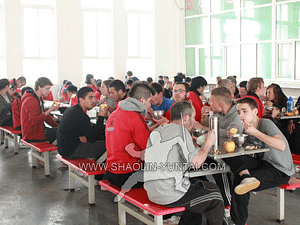 All students eat together at our restaurant