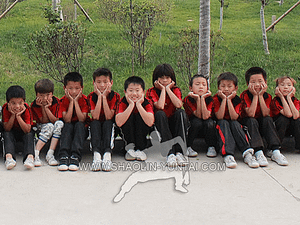 Kids training Kung Fu in China
