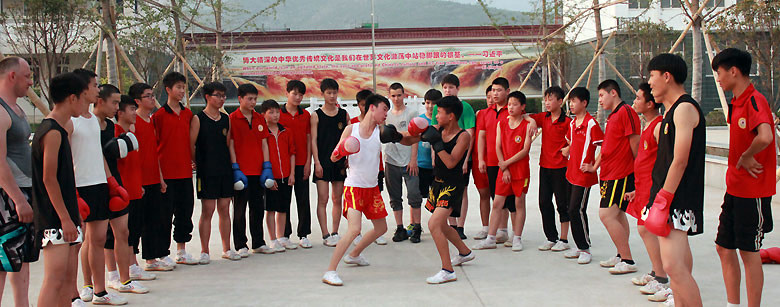 Lerne Sanda (Sanshou) in China
