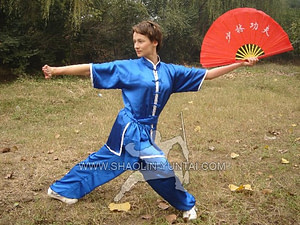 Chantal doing great while doing the Wushu Fan form.