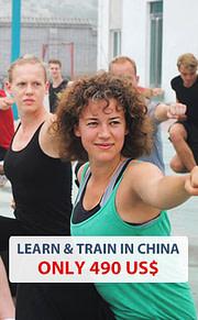 Kung Fu in China lernen für nur 470 EUR pro Monat