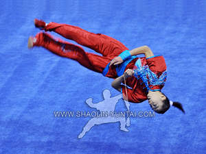 Wushu acrobatics in China