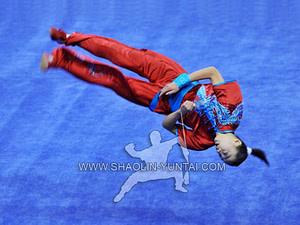 Wushu acrobatics in China