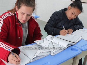Chinese classes at the Yuntai Mountain school